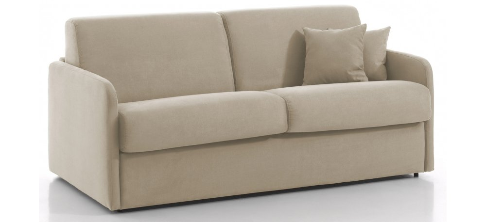 Canapé convertible 3 places DELICE - Largeur 174 cm - Couchage 140 cm