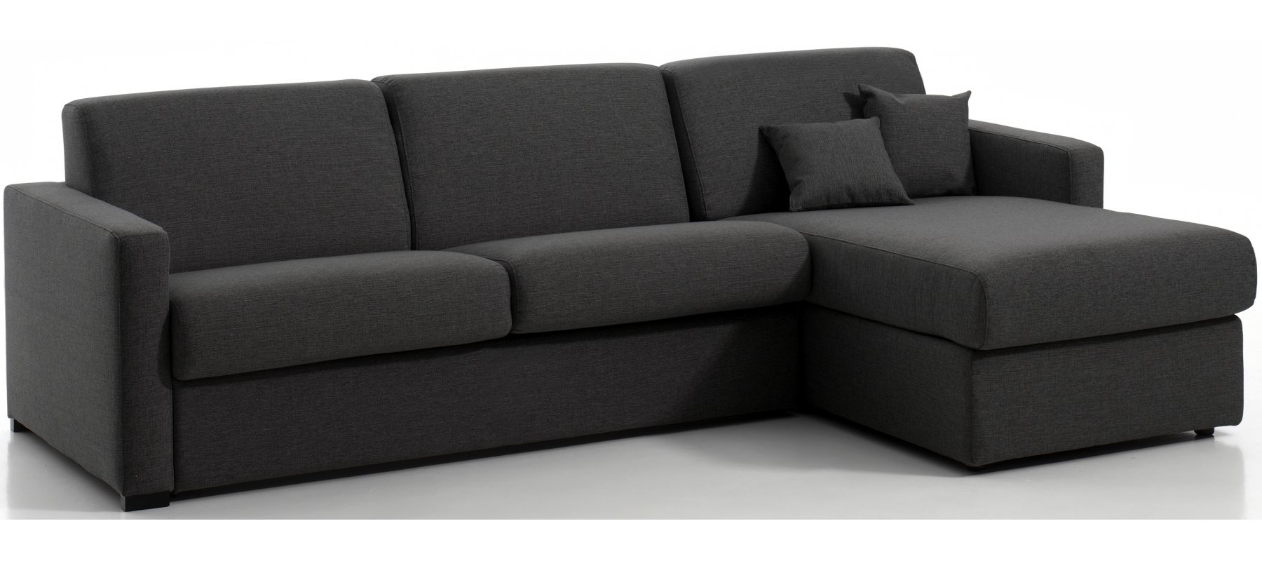 MANOSQUE - Largeur 268 cm - Canapé d'angle convertible - Méridienne réversible - Couchage 140 cm