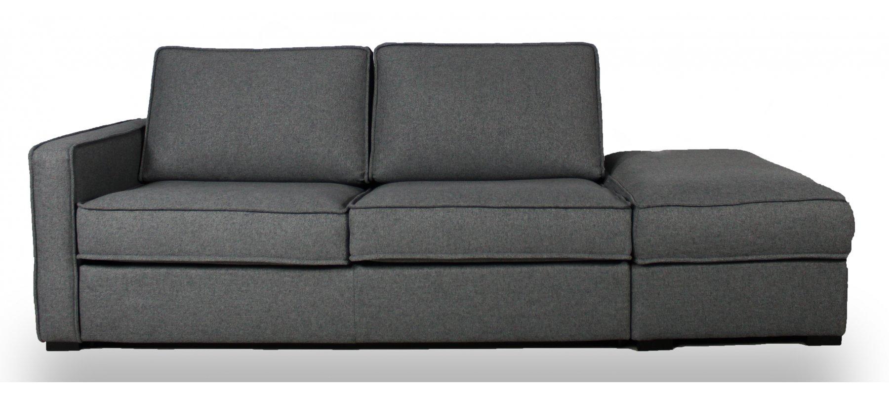 EGO - Largeur 254 cm - Canapé convertible + pouf - Couchage 140 cm