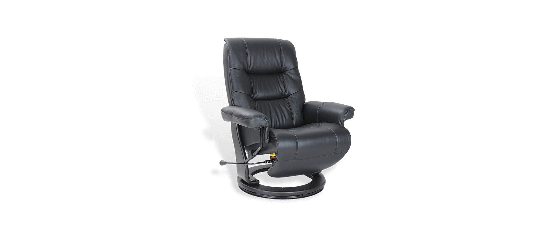 Fauteuil relaxation en cuir SEVILLE - 85,5 cm