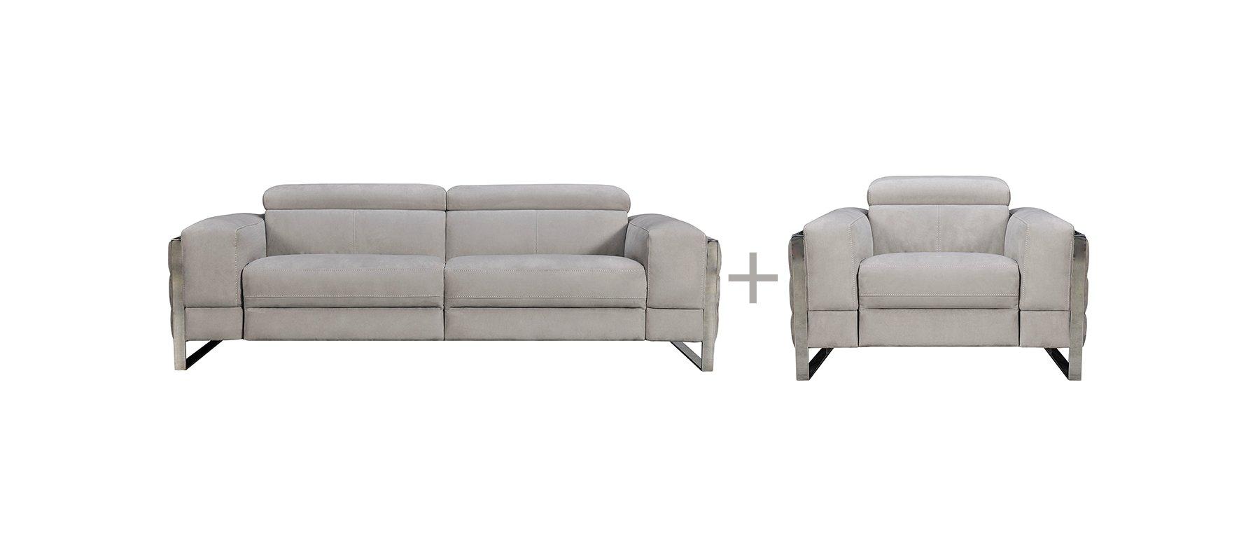 Canapé relax 3 places fixe + fauteuil 1 place relax pas chers CHARME - Largeur max 329 cm