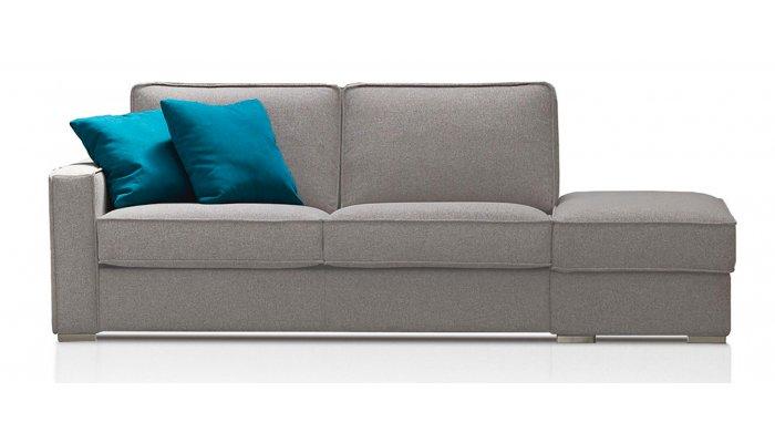EGO - Largeur 250 cm - Canapé convertible 3 places + pouf à droite - Couchage 140 cm