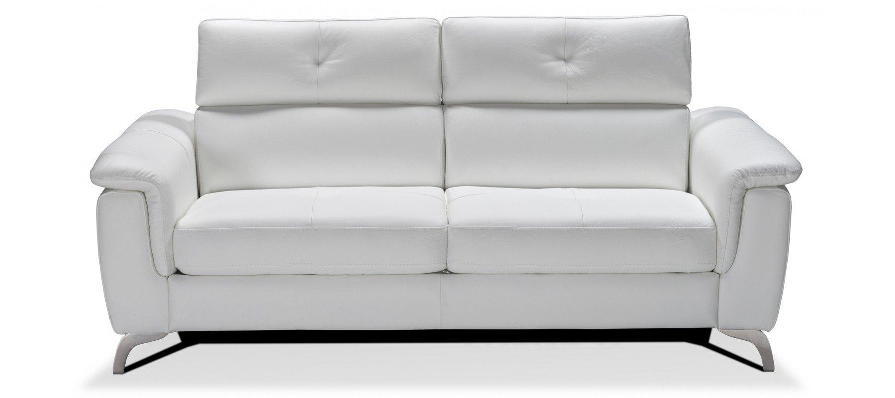 Canapé convertible BARI en cuir de vachette - Largeur 204 cm - Couchage 140cm