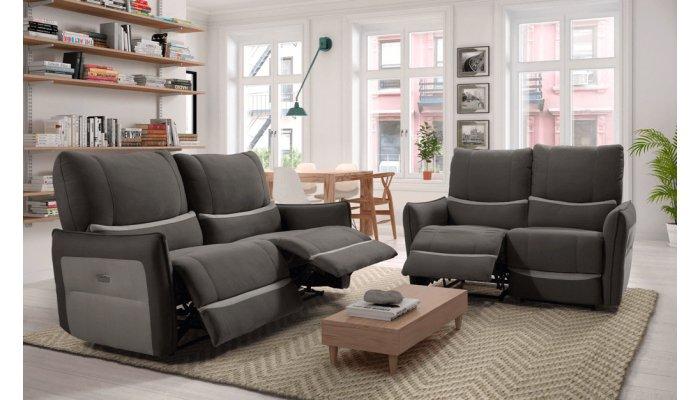 Canapé relax électrique 3 places MACON - Largeur 194 cm