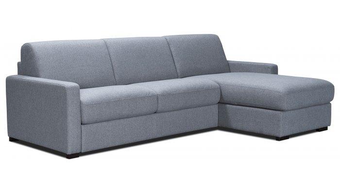 NICE - Largeur 277 cm - Canapé d'angle convertible - Matelas 16cm - Couchage 140cm - Méridienne réversible