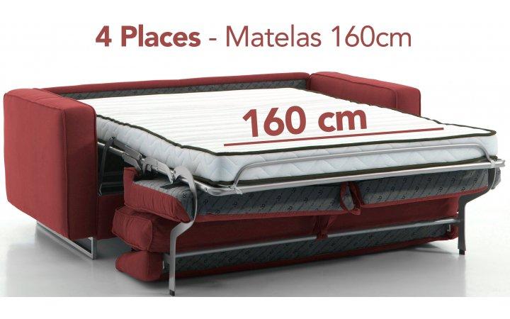 Pas Tout Canapés Cher Matelas Rapido Confort Vrai Convertibles Avec f6bgy7