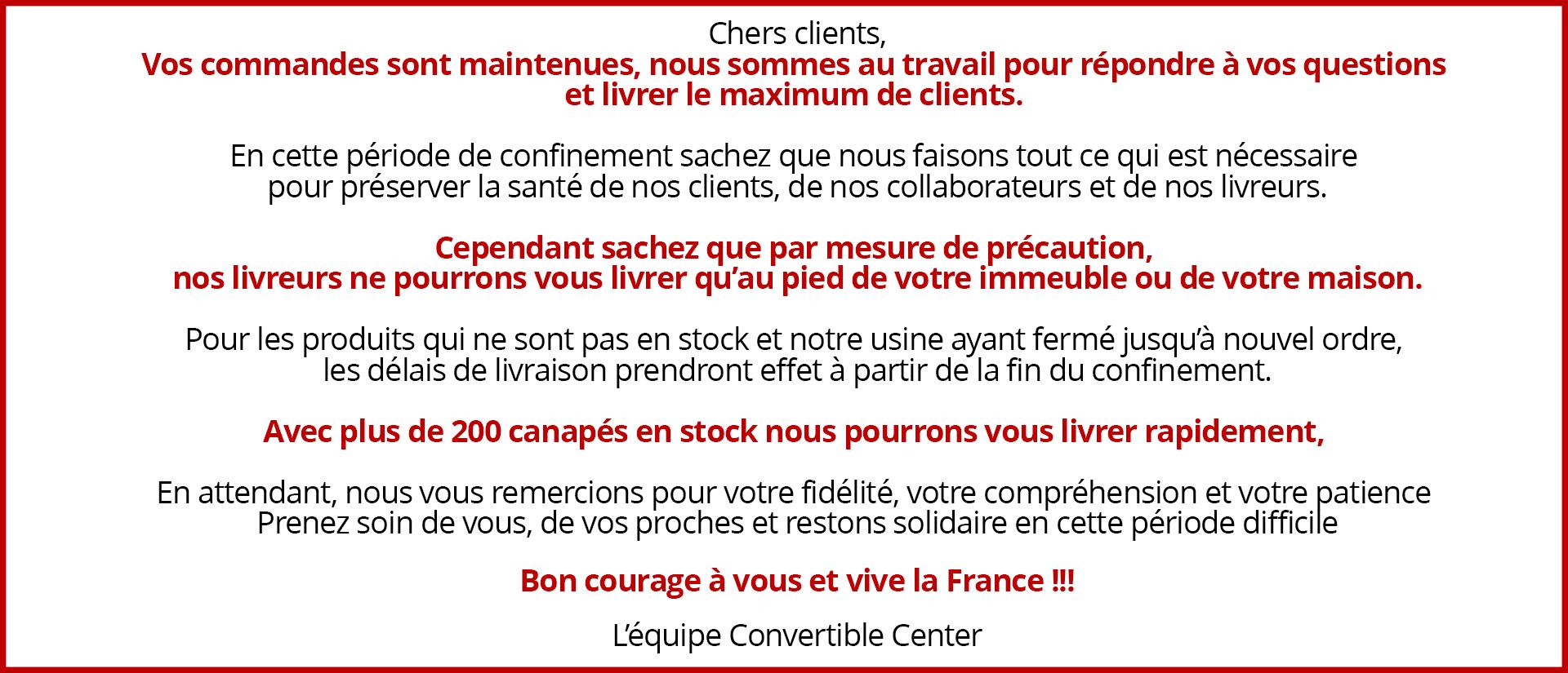 Coronavirus  : mesures exceptionnelles nos boutiques sont fermées mais le site reste ouvert